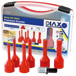 (L)PRODIAXO Dry auger set 7-piece - M14 - 2x6(diam), 2x8, 1x10, 1x12 mm + adapter - 35 mm Home