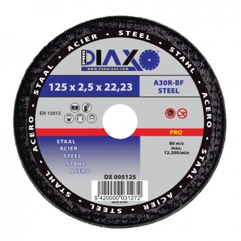 PRODIAXO Cutting disc STEEL Ø 125 x 2.5 mm A30R-BF - Pro Construction Home