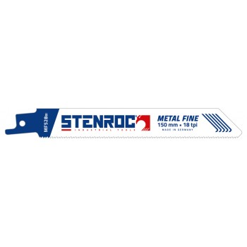 STENROC Reciprocating saw blade Metal-Inox 1-4mm (5pcs) - MF528BI, 150x19x0.9mm x 18tpi (EX LX20566-618R) Home