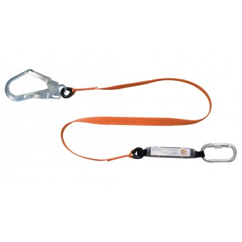 SECURX shock absorbing lifelines with shock absorber PA + 1 x SH10-SH15 - 2 m Fall arrest lanyards