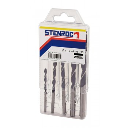 STENROC WOOD Wood drill set SET 5 pcs. (4-10mm) (EX LA KA030052) Home