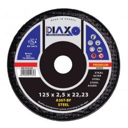 PRODIAXO Disque abrasif ACIER - Ø 125 x 2,5 mm A36T-BF - Premium Construction Accueil