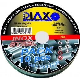 PRODIAXO Disque abrasif INOX Ø 125 x 1,0 mm A60R-BF - Pro Construction - Box 10 pcsAccueil