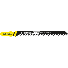 STENROC Jigsaw blade HOUT (5pcs) - WR160CV, 100 mm x 6.35tpi Jigsaw accessories