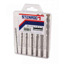 STENROC BRICKSTONE rock drill SET 4-5-6-7-8-9-10mm (EX IR 10501893) Home