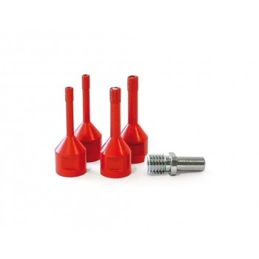 (L)PRODIAXO Dry auger set 5-piece - M14 - 2x6(diam), 2x8 mm + adapter - 35 mm Home