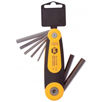 "HAFU Pin wrench set """"""""FOLDEX DUO"""""""" - 2K folding holder - INBUS - 7 parts - INCH 3-3,3-8 (EX BG 031177)"""""" Hex Keys"