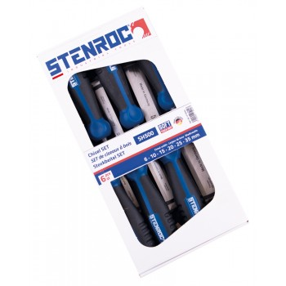 STENROC Stitch chisel SET 6pcs. (carton) SH500 - 2K Softgrip - 6,10,15,20,25,35 mm Home