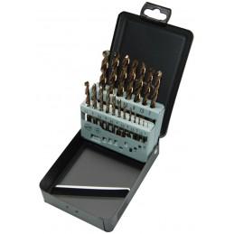 STENROC HSS-Cobalt DIN 338 - 19 pcs. 10x0.5 Metalbox set (EX LA KA012190) Drills Set