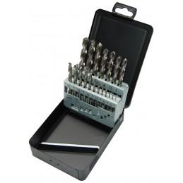 STENROC HSS DIN 338 - Premium SET 19 pcs. 10x0.5 Metalbox (EX LA KA013190) Drills Set