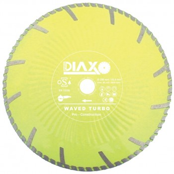 PRODIAXO WAVED TURBO diamond wheel - 125 x 22.2 mm - Pro Construction Home
