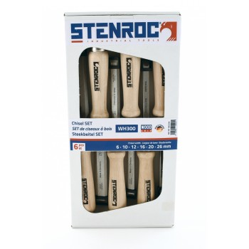 STENROC Stitch chisel SET (carton) WH300 - 6,10,12,16,20,26 mm Home