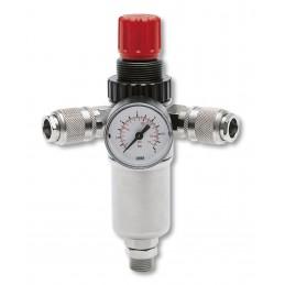 "Contimac pressure regulator with univ. 3-8"""" external thread quick connectors"" Compressed air accessories"