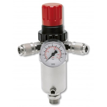 """Contimac pressure regulator with univ. couplings 1-2"""""""" male thread"""" Compressed air accessories"""