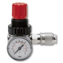 "Contimac pressure regulator with univ. 1-4"""" female thread quick connectors"" Compressed air accessories"
