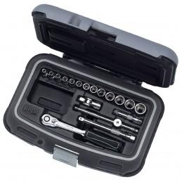 "Contimac socket set 1-4"""" and accessories - 18 dlg - polar"" Kits and set tools"
