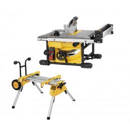 Dewalt DWE7485RS-QS - Scie à table DW745 + chariot à roues DE7400-XJScies à table
