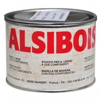 ALSIBOIS 0.4L WHITE MELAMINE + HARDENER Wood paste