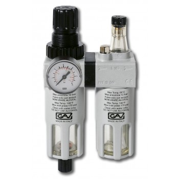 """Contimac pressure regulator with water separator and oil mist 1-2"""""""" internal thread"""" Compressed air accessories"""