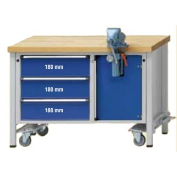 Contimac anke mounting workbench 1270 model 706 v, fahrbar 127 Workshop equipment