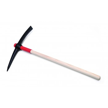 SOLID pickaxe 2.5 kg round housing with wooden handle MIX with protective cover Home