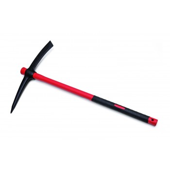 "SOLID Pickaxe 2.5 kg round housing with fibreglass handle soft-feel TYPE """"F5500"""""" Home"