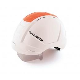 SECURX Safety helmet RANGER - WHITE - with twist closure, Visor and Crash box - EN 397 Helmets of construction site