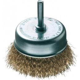 FECIN bowl brush TA (diam.) 75-0,30- 6 mm rod, brass, blister DIY Brushes