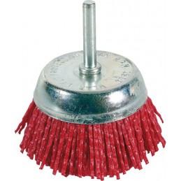 FECIN Nylon bowl brush FTA (diam.) 75 mm, 6 mm rod - blister pack DIY Brushes