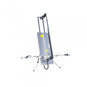 EDMA Polystyrene cutting table foldable - SET in case - (L)810-1400 mm x (D)32 mm Various cutting tools
