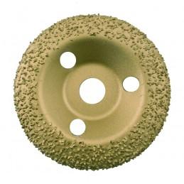 EDMA Deburring disc (diam.) 125 mm, medium grain (spherical) Deburring discs