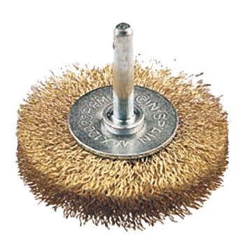 FECIN Industrial Wheel Brush F-21 (diam.) 50-0,30- 6 mm rod, brass, vrac Industrial Brushes