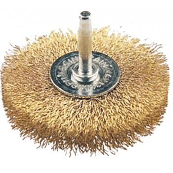 FECIN Industrial Wheel Brush F-21 (diam.) 60-0,30- 6 mm rod, brass, vrac Industrial Brushes