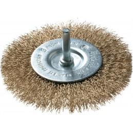 FECIN Disc brush BE (diam.) 75-0,30- 6 mm rod, brass, blister DIY Brushes