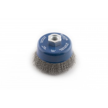 FECIN bowl brush F-24 (diam.)75-M14-0,30 - Inox, blister pack Bowl brushes with wavy wire