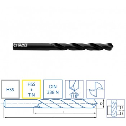 Izar 1010 - 10,80mm DRILL BIT HSS DIN338N CLASSIQUE HSS