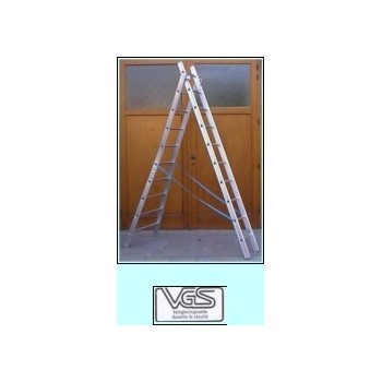 ALUMINIUM LADDER 2X11 VGS 3.00-5.00M 10KG Work at height