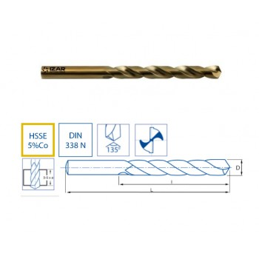 Izar 1016 - 10,00mm HSSE COBALT 5% Drill 135° Cobalt 5%