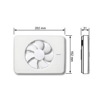 FRESH INTELLIVENT WHITE AUTOMATIC VENTILATOR Fans